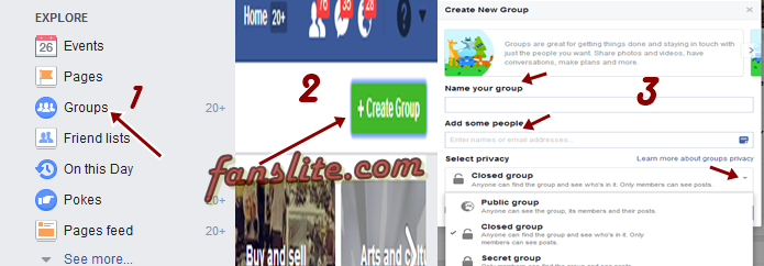 how to change privacy on facebook group